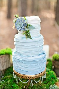 blueombreruffleweddingcake@weddingchicks