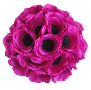 Bridesmaids-Bouquet-in-Silk-Cerise-Pink-Anemone-and-Purple-Handle-JR2_7222